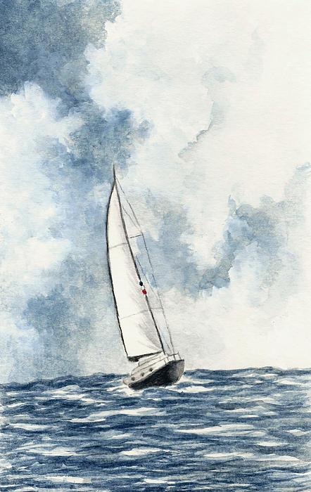 Sailing Print by Michael Vigliotti