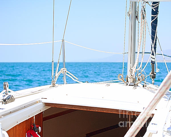 Sailing On A Fine Sunny Day Print by Artist and Photographer Laura Wrede