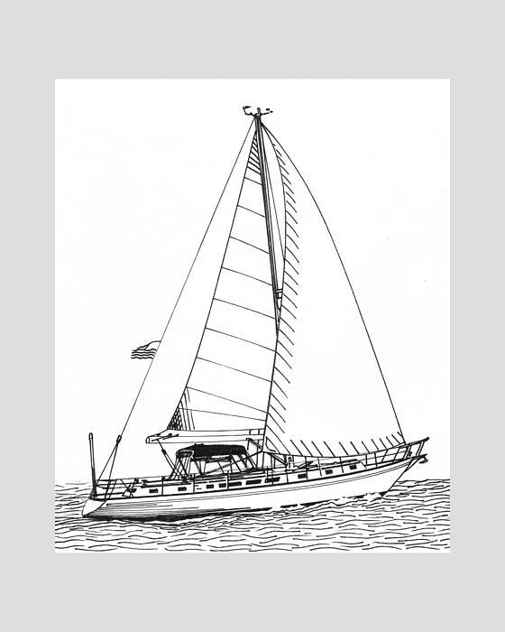 Sailing Sailing Sailing Print by Jack Pumphrey