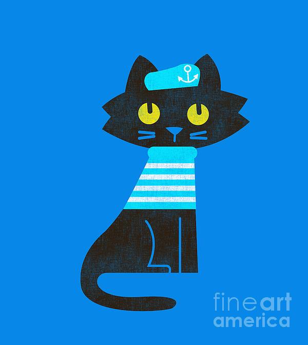 Sailor Cat Print by Budi Satria Kwan