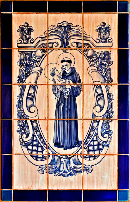 Saint Anthony Of Padua Print by Christine Till