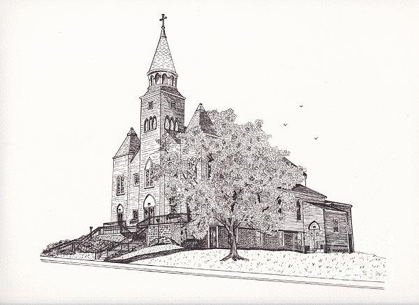 Saint Bridget Church Print by Michelle Welles