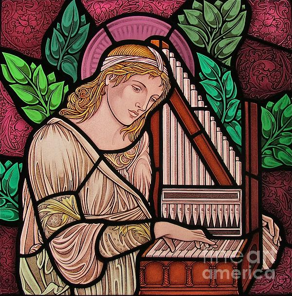 Saint Cecilia Print by Gilroy Stained Glass