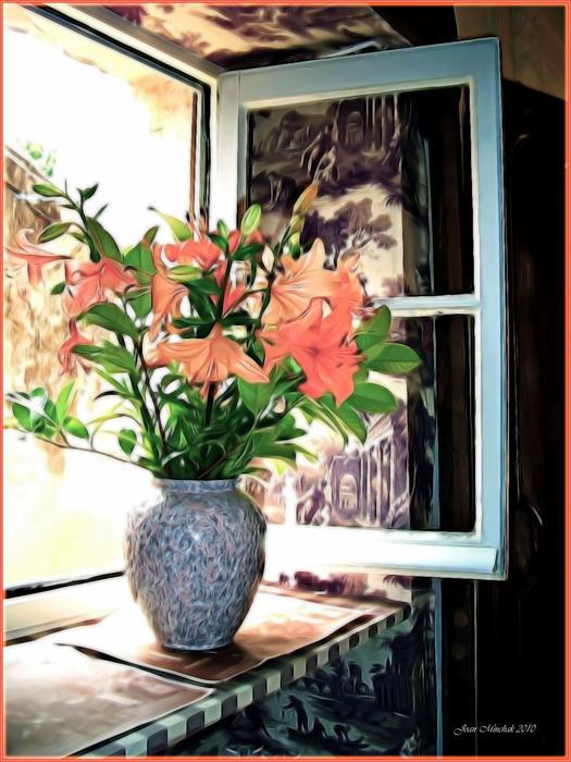 Saint Emilion Window Print by Joan  Minchak