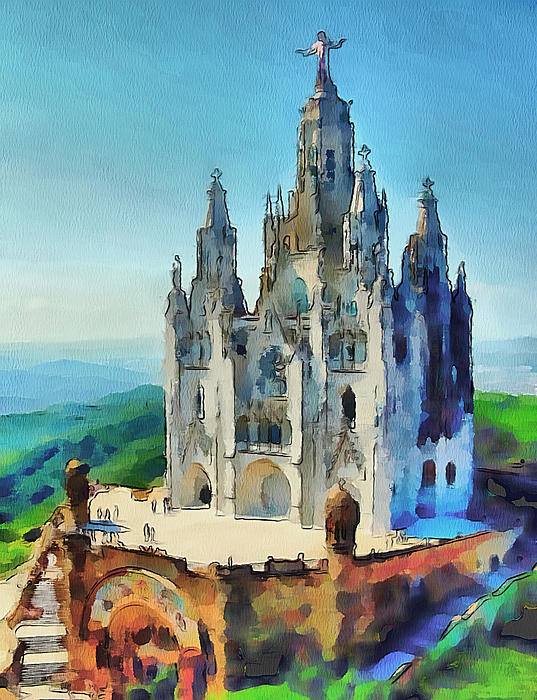 Saint Heart Cathedral Print by Yury Malkov