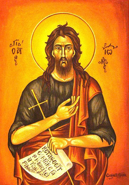 Saint John Print by Sonya Grigorova