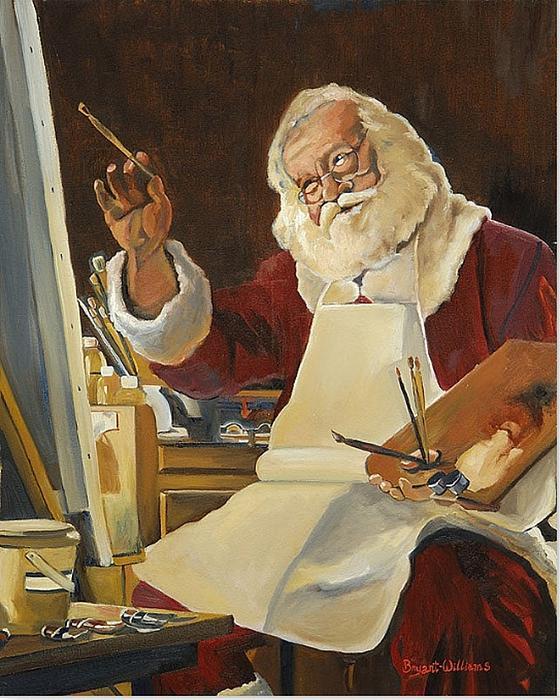 Saint Nick Painting Print by Kathy Bryant-Williams
