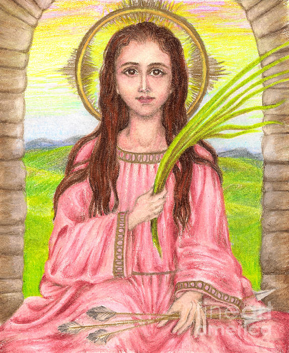 Saint Philomena Print by Michelle Bien