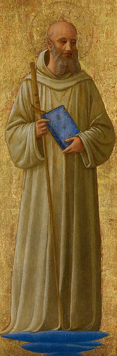 Saint Romuald Print by Fra Angelico