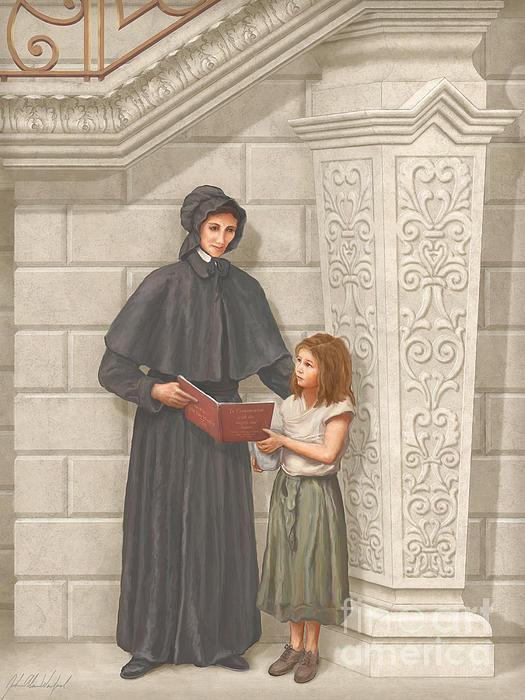 Sainta Elizabeth Ann Seton Print by John Alan  Warford