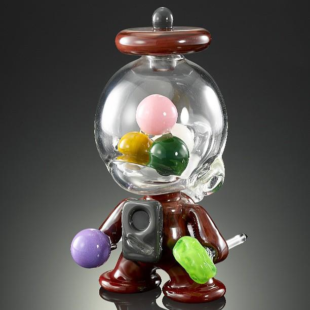 Saki Bomb Gumball Machine Munny! This by Coyle Glass