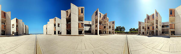 Salk Institute Print by Nomad Art And  Design