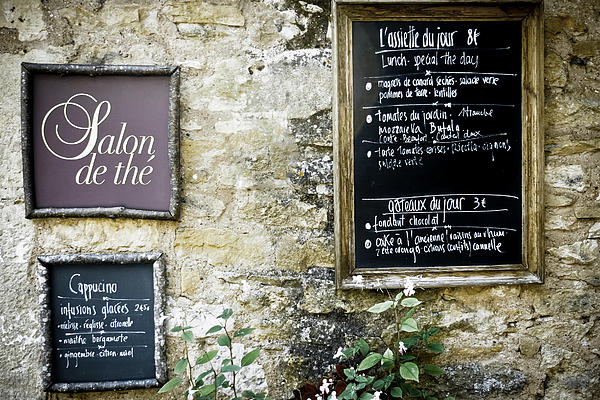 Salon De The - French Menu Signs Print by Nomad Art And  Design