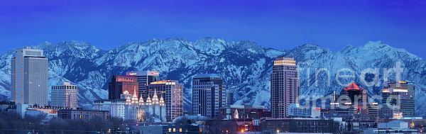 Salt Lake City Skyline Print by Brian Jannsen
