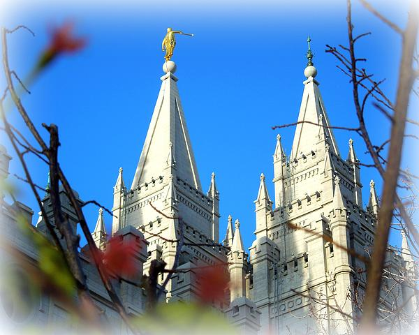Salt Lake Temple Top Print by Heidi Manly