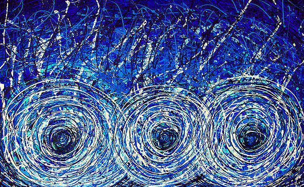 Salt Of The Soul - Drip Painting Art By Commission Print by Sharon Cummings