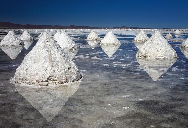 Salt Pyramids Print by Kim Andelkovic