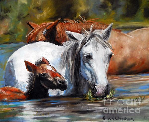 Salt River Foal Print by Karen Kennedy Chatham