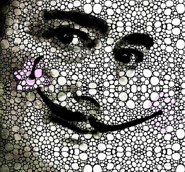 Salvador Dali - Surreal - Stone Rock'd Art By Sharon Cummings Print by Sharon Cummings