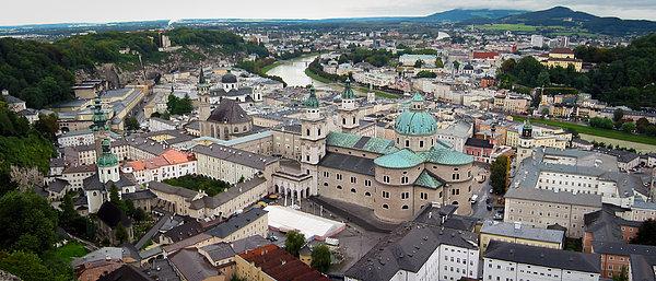 Salzburg Panoramic Print by Adam Romanowicz