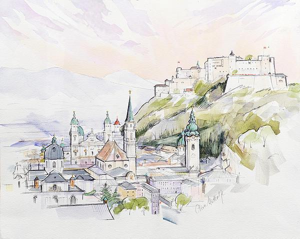 Salzburg Sunrise  Print by Clive Metcalfe