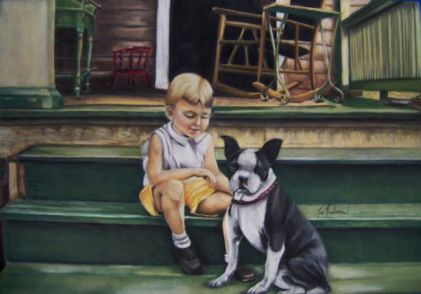 Sam And Gippy Print by Leah Wiedemer