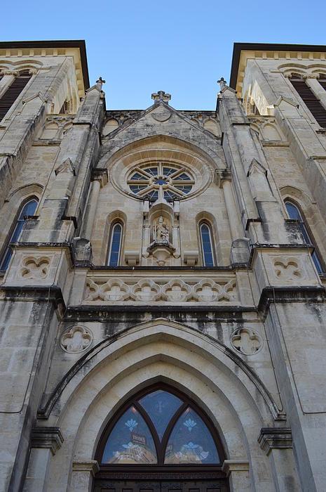 San Antonio Church 02 Print by Shawn Marlow