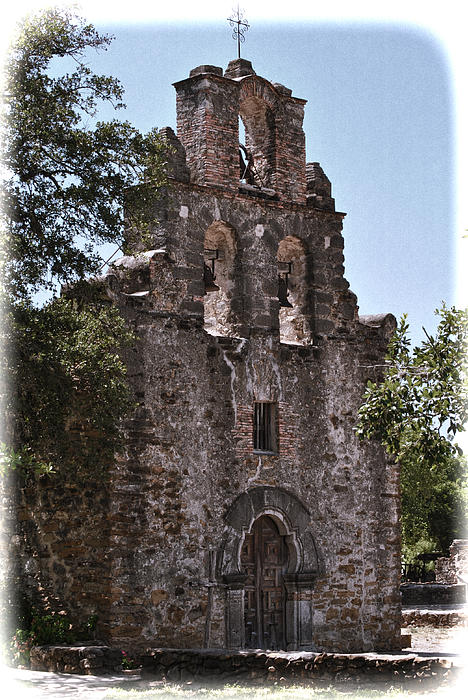 San Antonio Mission Print by Kathy Williams-Walkup