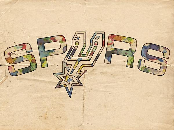 San Antonio Spurs Retro Poster Print by Florian Rodarte