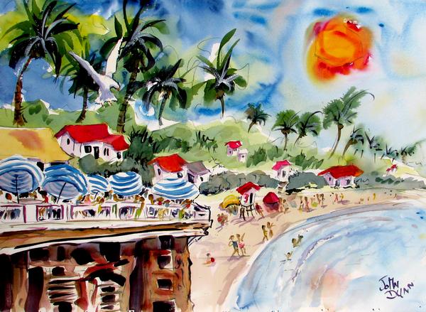 San Clemente Pier View Print by John Dunn