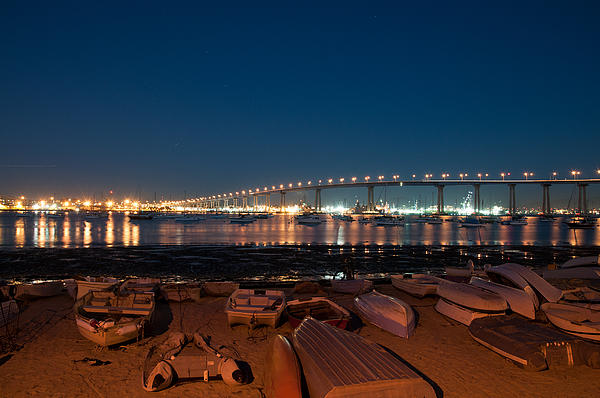 San Diego Bridge  Print by Gandz Photography