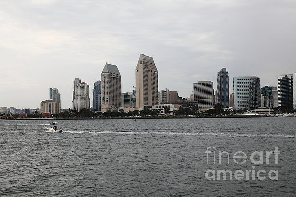 San Diego Skyline 5d24335 Print by Wingsdomain Art and Photography