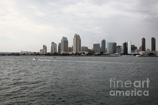 San Diego Skyline 5d24336 Print by Wingsdomain Art and Photography