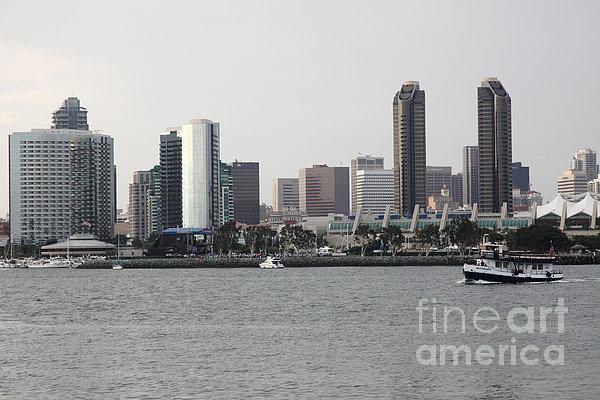 San Diego Skyline 5d24380 Print by Wingsdomain Art and Photography