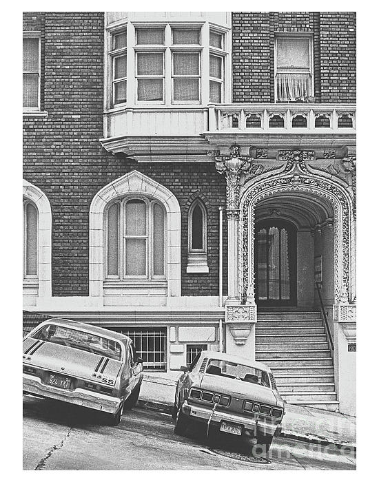San Francisco 1981 Cars On A Slant Print by ImagesAsArt Photos And Graphics