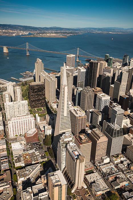 San Francisco Aloft Print by Steve Gadomski