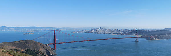 San Francisco And The Golden Gate Bridge Print by Twenty Two North Photography