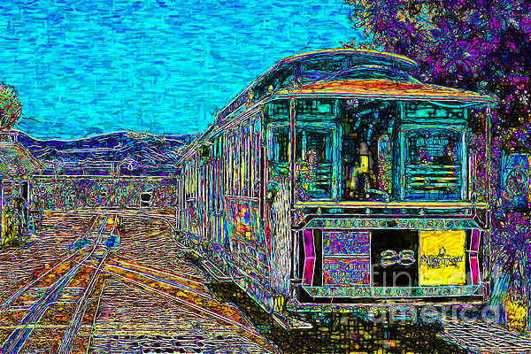 San Francisco Cablecar - 7d14097 Print by Wingsdomain Art and Photography