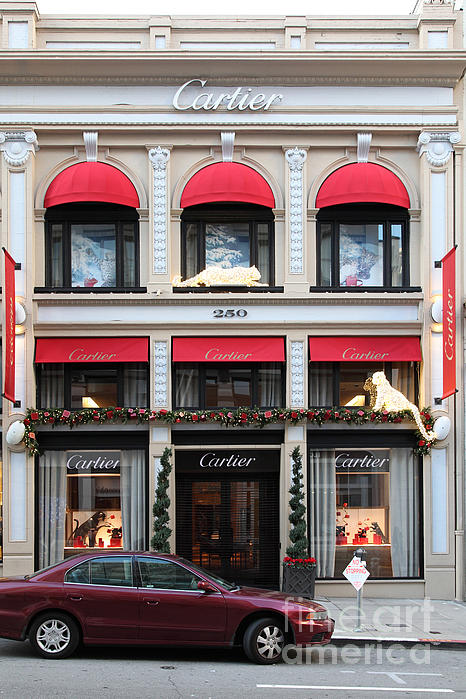 San Francisco Cartier Storefront - 5d20567 Print by Wingsdomain Art and Photography