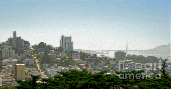 San Francisco - Cityscape - 04 Print by Gregory Dyer