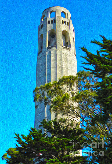 San Francisco - Coit Tower - 01 Print by Gregory Dyer