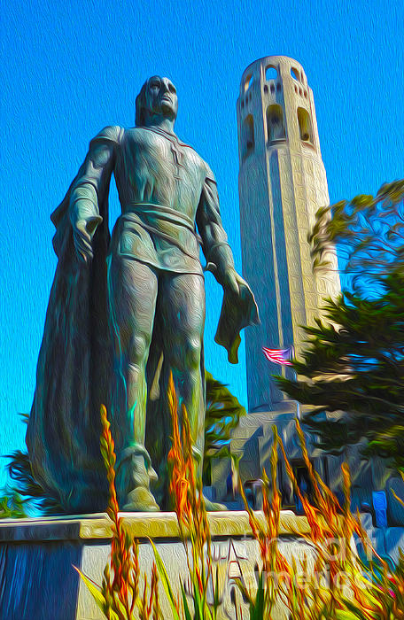 San Francisco - Coit Tower - 02 Print by Gregory Dyer