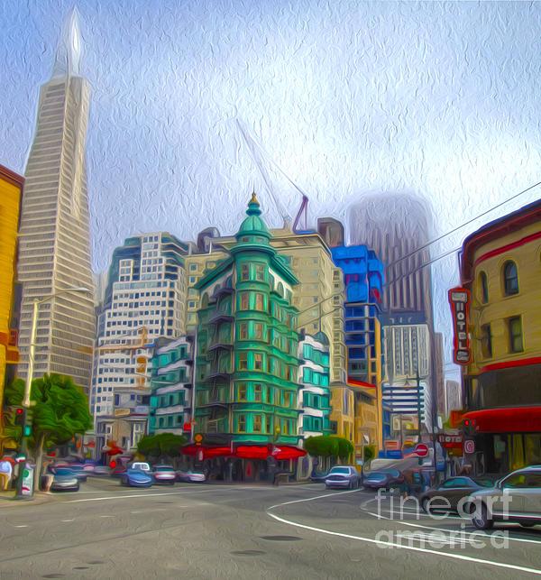 San Francisco - Columbus Street Print by Gregory Dyer