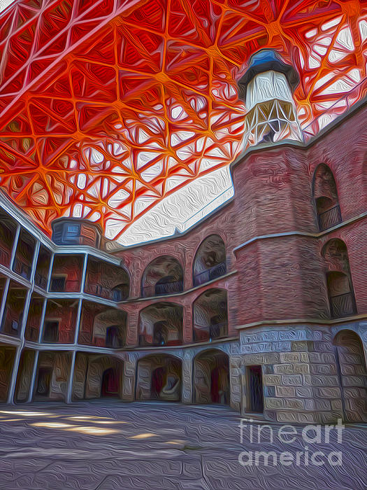 San Francisco - Fort Point - 02 Print by Gregory Dyer