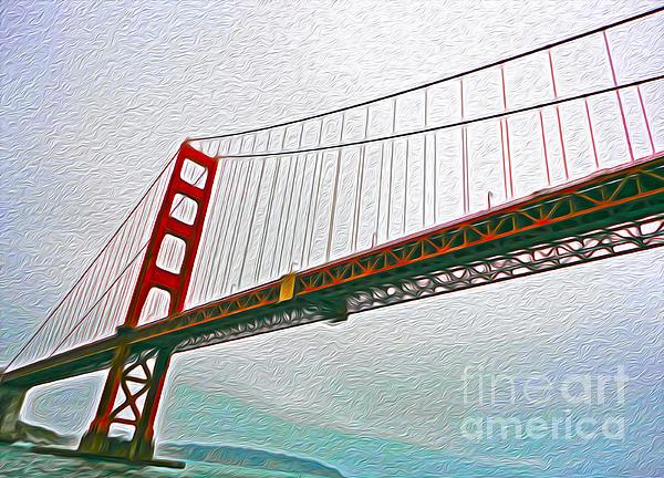 San Francisco - Golden Gate Bridge - 01 Print by Gregory Dyer