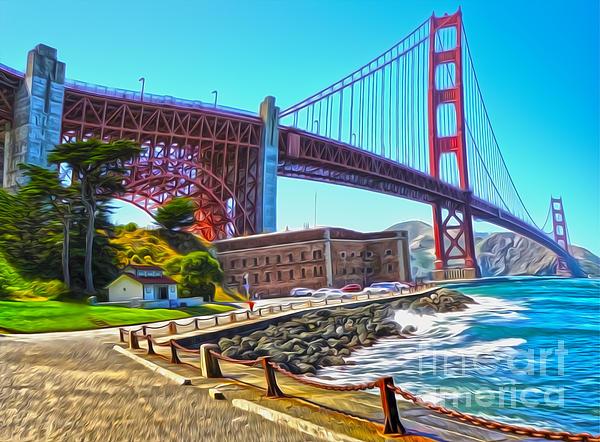 San Francisco - Golden Gate Bridge - 11 Print by Gregory Dyer