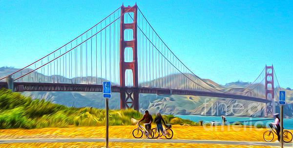 San Francisco - Golden Gate Bridge - 13 Print by Gregory Dyer