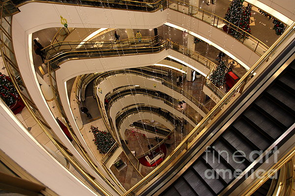 San Francisco Nordstrom Department Store - 5d20639 Print by Wingsdomain Art and Photography