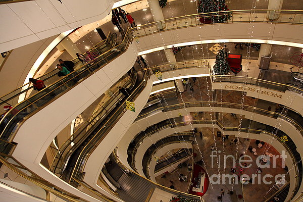 San Francisco Nordstrom Department Store - 5d20641 Print by Wingsdomain Art and Photography