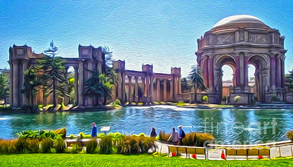 San Francisco - Palace Of Fine Arts - 02 Print by Gregory Dyer